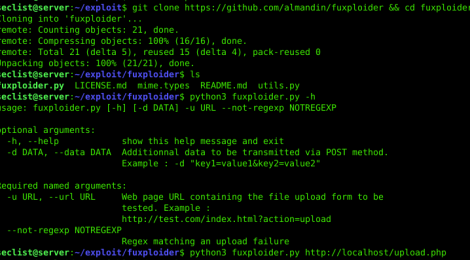 fuxploider - File upload technique suggester tool for penetration testing web applications.
