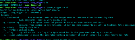 swap_digger - tools to automate Linux swap analysis during post-exploitation or forensics.
