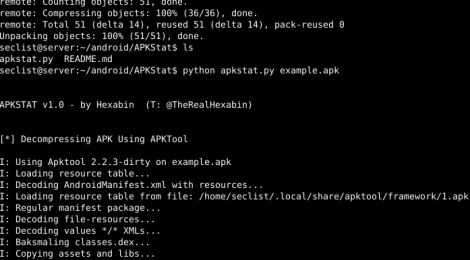 APKStat - Automated Information Retrieval From APKs For Initial Analysis.