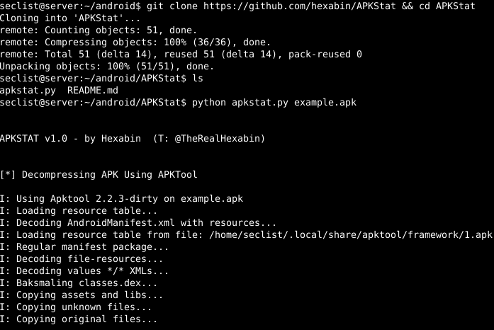 APKStat – Automated Information Retrieval From APKs For
