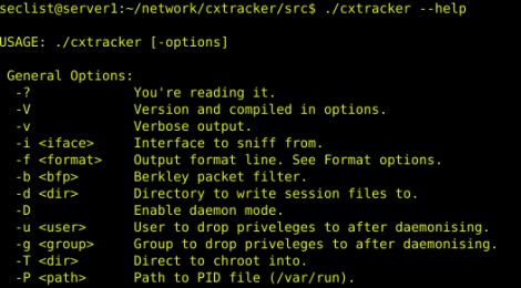 CxTracker - is a passive network connection tracker, auditing and network discovery.