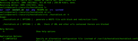Hostsblock - An ad- and malware-blocking script for Linux.