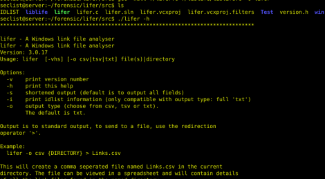 lifer - A forensics tool for Windows link file analyzer.