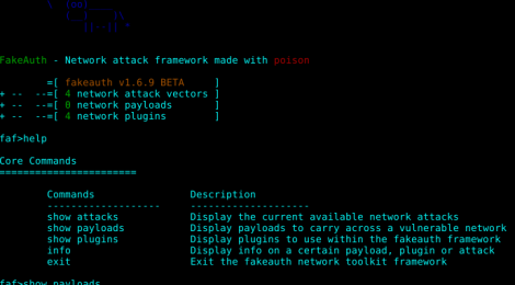 FakeAuth - Network attack framework made with arp-poison.