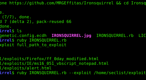 Ironsquirrel - Encrypted browser exploits delivery for the masses.