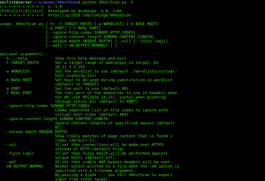 VHostScan – a scanner can be used with pivot tools, detect catch-all
