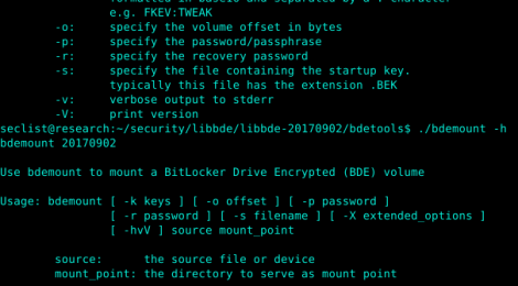 libbde - Library and tools to access the BitLocker Drive Encryption (BDE) encrypted volumes.