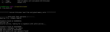 BitCracker is the first open source BitLocker password cracking tool.