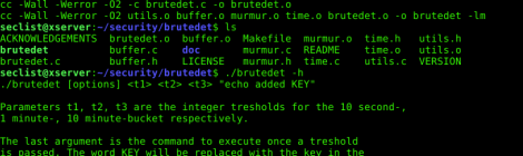 brutedet - Simple bruteforce detection tool.