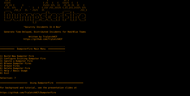 DumsterFire - Security Incidents In A Box!