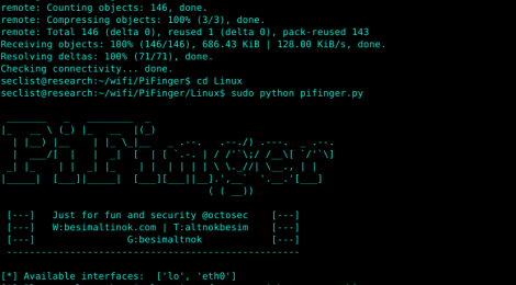 PiFinger - Searches for wifi-pineapple traces and calculate wireless network security.