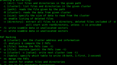 fatcat - FAT filesystems explore, extract, repair, and forensics tool.