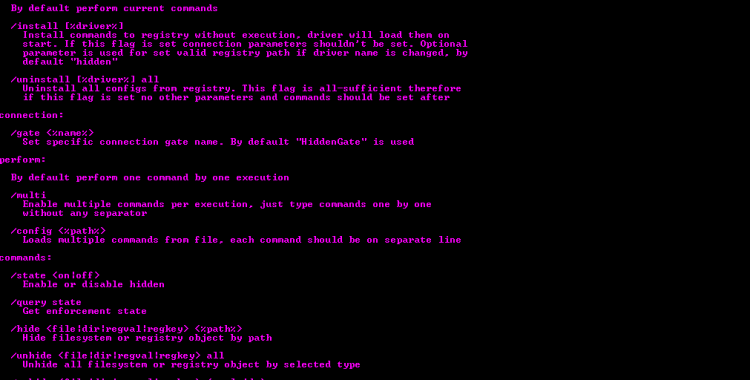 Hidden - tools can hide objects of file-system and registry, protect processes and etc.