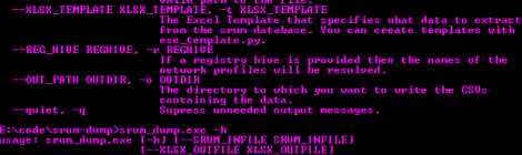 srum-dump ~ A forensics tool to convert the data in the Windows srum.
