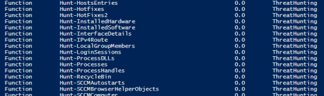 ThreatHunting - Powershell collection designed to assist in Threat Hunting Windows systems.