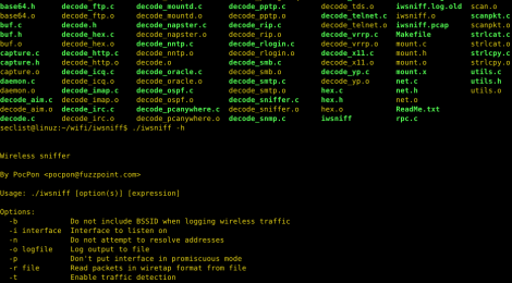 iwsniff is a TCP/UDP password sniffer based on decode routines in dsniff.