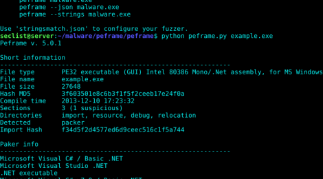 PEframe is a open source tool to perform static analysis on (portable executable) malware.