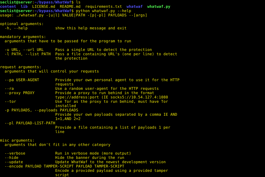 WhatWaf – Detect and bypass web applications firewall