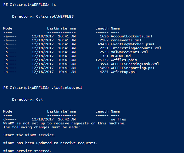 weffles threat hunting incident response console with windows