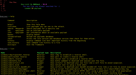 One-Lin3r : Gives you one-liners that aids in penetration testing operations.