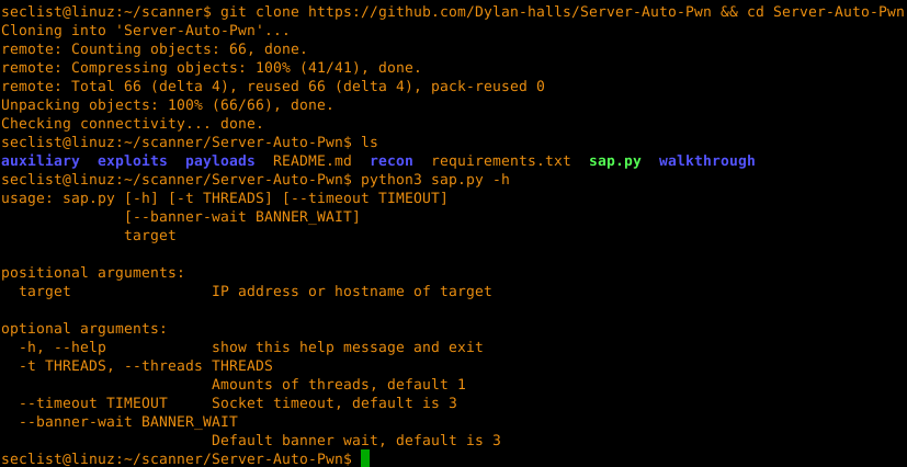 sap – Automatic webserver vulnerability scanner and
