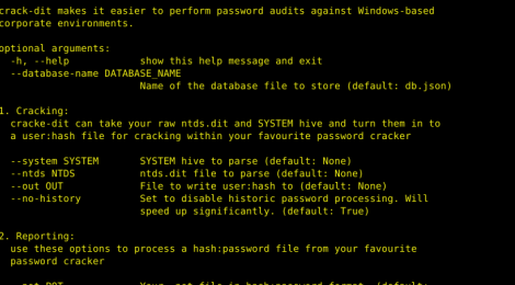 crack-dit makes it easier to perform password audits against Windows-based corporate environments.