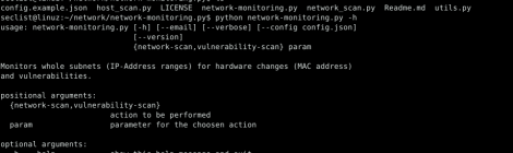 Network Monitoring Tool - a tool monitors whole subnets (IP-Address ranges) for hardware changes and vulnerability.