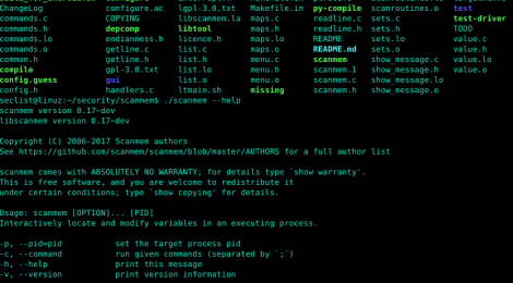 scanmem is an interactive debugging utility and memory scanner for Linux.