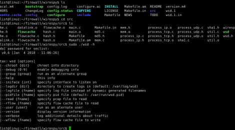 WireSpy (wsd) - captures packets and generates firewall rules and netflow logs.