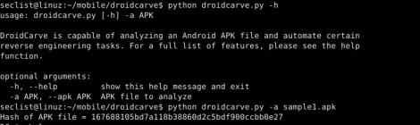 droidcarve - Commandline Android reverse engineering tool.