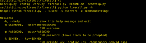 firecall - Automate SSH communications with firewall, switches, etc.