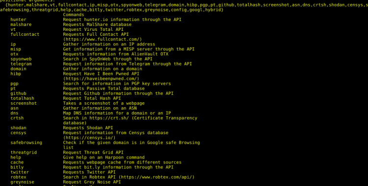 harpoon - CLI tool for open source and threat intelligence(OSINT).