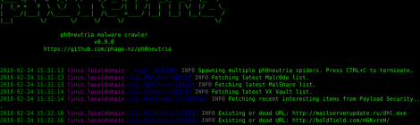 ph0neutria malware crawler.