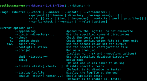 Rootkit Hunter v1.4.6 - security monitoring and analyzing tool for POSIX compliant systems.