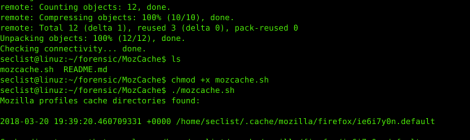 MozCache - shell script to perform forensics analysis of the Mozilla-Browsers cache (Firefox, Iceweasel and Seamonkey).