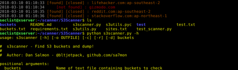 s3scanner - Find S3 buckets and dump.