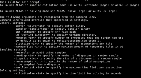 alias - modular tool for finding backdoor for Sat.