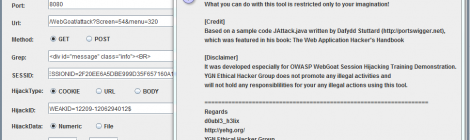 jhijack - A Java Hijacking tool for web application session security assessment.