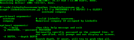 linkedin2username - OSINT Tool for Generate username lists from companies on LinkedIn.