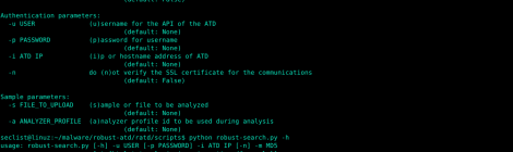 robust-atd : Advanced Threat Defense API malware submissions.