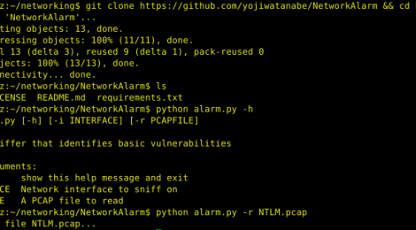 NetworkAlarm - tool to monitor for possible security vulnerability.