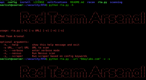 Red team Arsenal(RTA) - An intelligent scanner to detect security vulnerability in companies layer 7 assets.