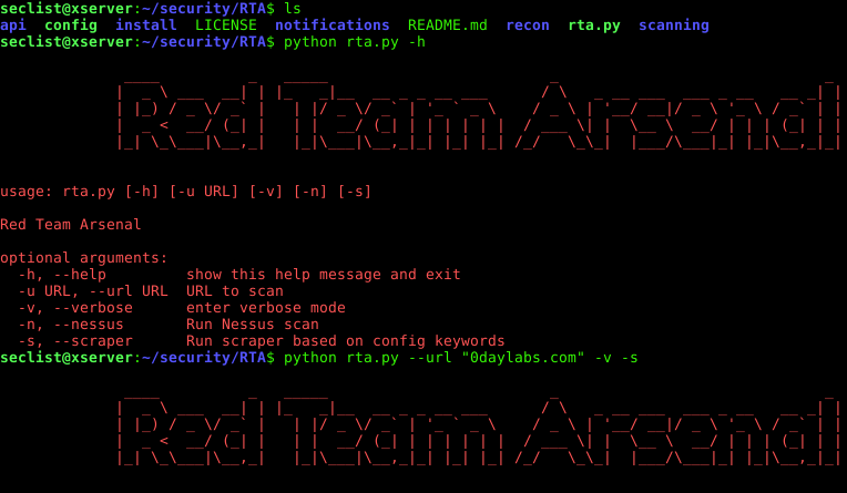 Red team Arsenal(RTA) – An intelligent scanner to detect security