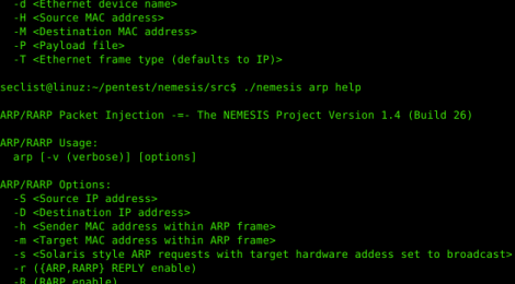 Nemesis - TCP/IP Packet Injector.