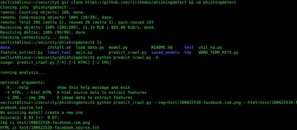 phishingdetect – A phishing detect system with NLP/OCR/HTML features