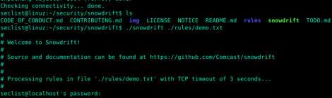 snowdrift is a unit testing for firewall rules.