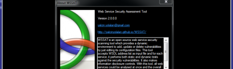 WSSAT - Web Service Security Assessment Tool.